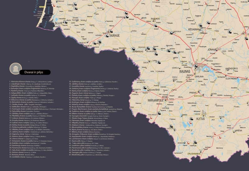 Lietuvos žemėlapis su smeigtukais, žemėlapis ant drobės, Lietvos zemelapis ant drobes, Pin and travel, Push pin map, Lithuania canvas map, Detalus lietuvos zemelapis-209