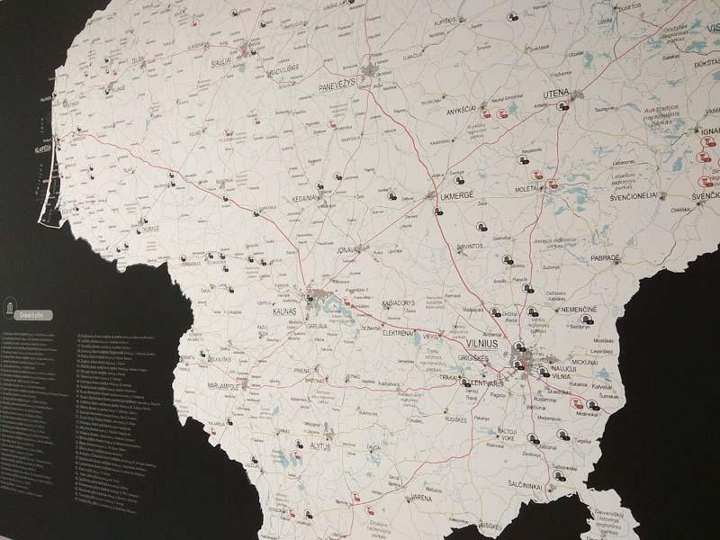 Lietuvos žemėlapis su smeigtukais, žemėlapis ant drobės, Lietvos zemelapis ant drobes, Pin and travel, Push pin map, Lithuania canvas map, Detalus lietuvos zemelapis-36