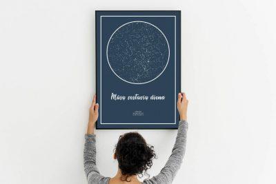 Pilkai melynas, Dovana, Žemėlapiai, zvaigzdziu zemelapiai, žvaigdžių žemėlapis, imprimera.shop,easy-print.lt, žemėlapis ant drobės, žvaigždės ant drobės