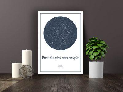 Dovana, Žemėlapiai, zvaigzdziu zemelapiai, žvaigdžių žemėlapis, imprimera.shop,easy-print.lt, žemėlapis ant drobės, žvaigždės ant drobės (3 of 5)