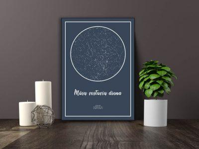 Dovana, Žemėlapiai, zvaigzdziu zemelapiai, žvaigdžių žemėlapis, imprimera.shop,easy-print.lt, žemėlapis ant drobės, žvaigždės ant drobės (4 of 5)