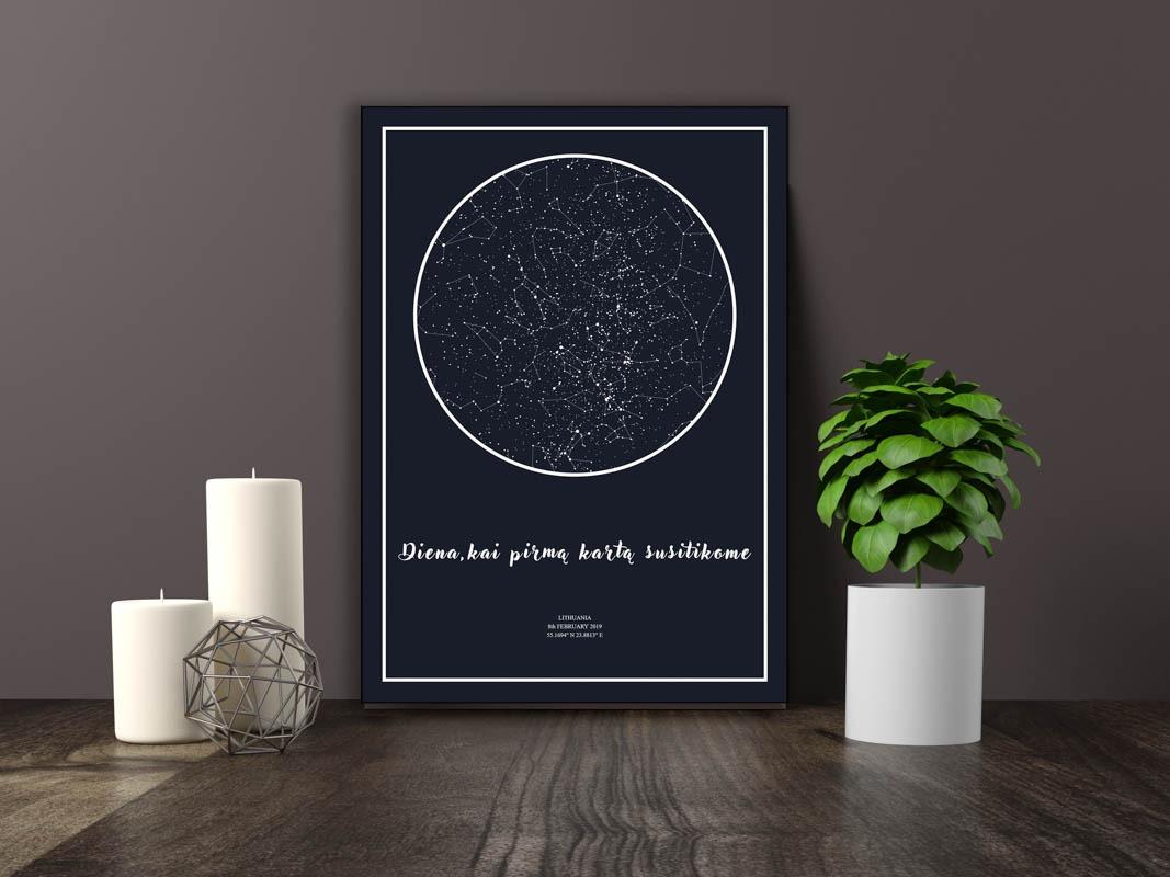 Dovana, Žemėlapiai, zvaigzdziu zemelapiai, žvaigdžių žemėlapis, imprimera.shop,easy-print.lt, žemėlapis ant drobės, žvaigždės ant drobės (5 of 5)