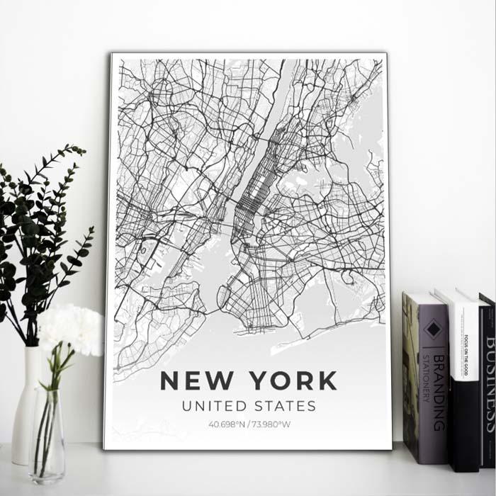 Miestų žemėlapiai, city map, canvas map, canada city canvas, miestas ant drobes, Dekoracija ant sienos, miestu zemelapis (10 of 27)