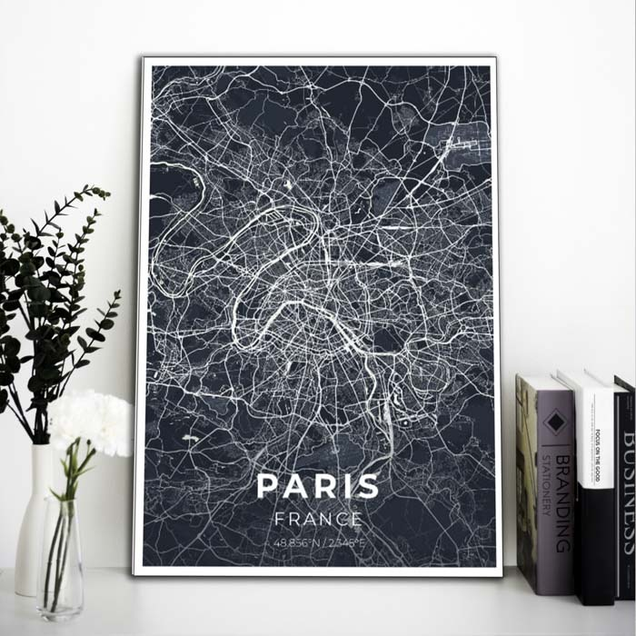 Miestų žemėlapiai, city map, canvas map, canada city canvas, miestas ant drobes, Dekoracija ant sienos, miestu zemelapis (12 of 27)