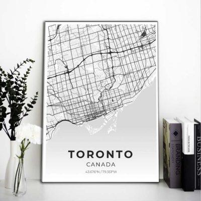 Miestų žemėlapiai, city map, canvas map, canada city canvas, miestas ant drobes, Dekoracija ant sienos, miestu zemelapis (13 of 27)