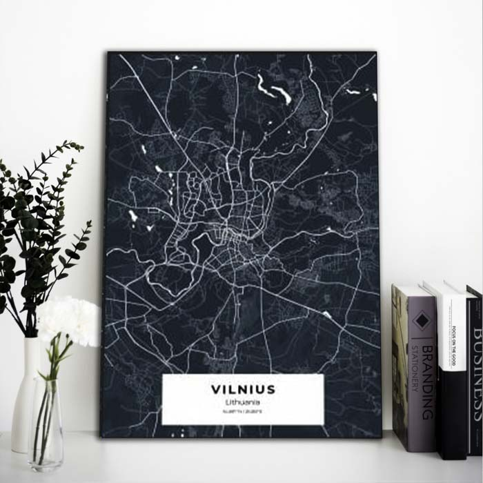 Miestų žemėlapiai, city map, canvas map, canada city canvas, miestas ant drobes, Dekoracija ant sienos, miestu zemelapis (15 of 27)