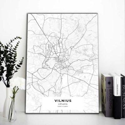 Miestų žemėlapiai, city map, canvas map, canada city canvas, miestas ant drobes, Dekoracija ant sienos, miestu zemelapis (18 of 27)