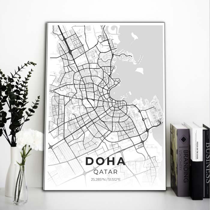 Miestų žemėlapiai, city map, canvas map, canada city canvas, miestas ant drobes, Dekoracija ant sienos, miestu zemelapis (2 of 27)