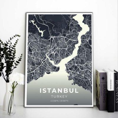 Miestų žemėlapiai, city map, canvas map, canada city canvas, miestas ant drobes, Dekoracija ant sienos, miestu zemelapis (4 of 27)