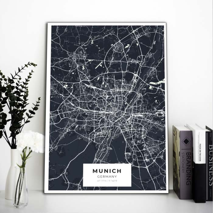 Miestų žemėlapiai, city map, canvas map, canada city canvas, miestas ant drobes, Dekoracija ant sienos, miestu zemelapis (8 of 27)