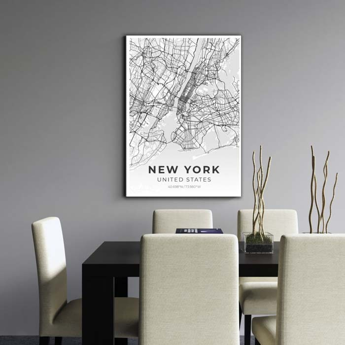 Miestų žemėlapiai, city map, canvas map, canada city canvas, miestas ant drobes, Dekoracija ant sienos, miestu zemelapis (9 of 27)