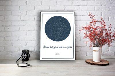 zvaigzdziu zemelapiai, žvaigdžių žemėlapis,žvaigždės ant drobės, imprimera.shop, (2 of 5)